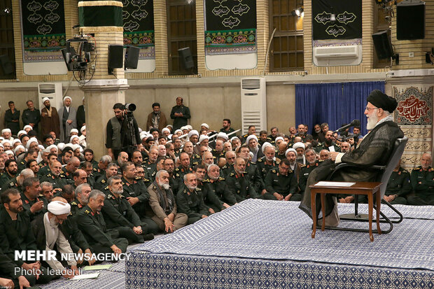 Leader's meeting with IRGC commanders