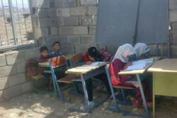 تحصیل در خرابه؛ مدرسه دانش آموزان «تنگ لیلم» سقف ندارد!