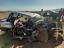 یک کشته و یک مصدوم در برخورد دو دستگاه پراید در قزوین