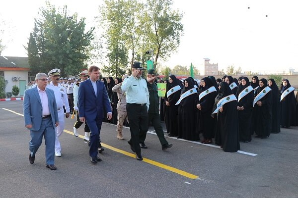 صبحگاه مشترک نیروهای انتظامی و نظامی گیلان برگزار شد