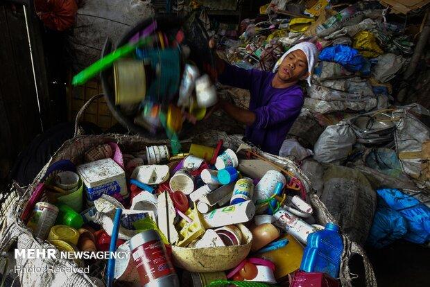 زباله های پلاستیکی در مانیل