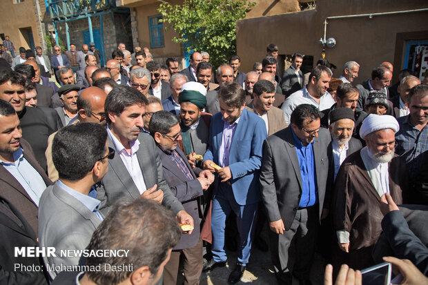 آئین افتتاح واحدهای مسکونی روستایی شهرستان نمین