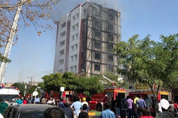 مهار آتشسوزی در بلوار دانشجوی مشهد