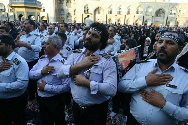 مداحی میثم مطیعی در آیین بدرقه خادمان اربعین حسینی در حرم رضوی