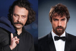 This combination photo shows Iranian actor Hesam Manzur (L) and Turkish actor Ibrahim Çelikkol.