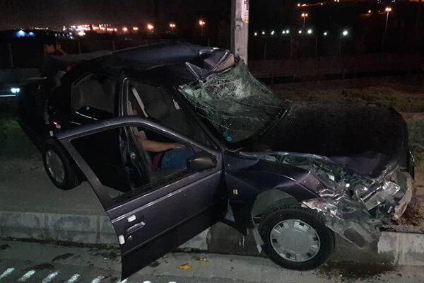 تصادف شدید چهار خودرو در غرب تهران