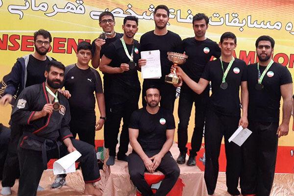 عنوان سوم تیم دفاع شخصی قم در مسابقات قهرمانی کشور