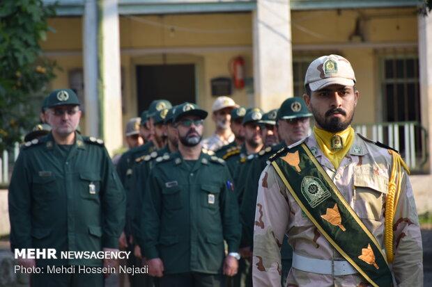 صبحگاه مشترک نیروهای مسلح شهرستان مرزی آستارا