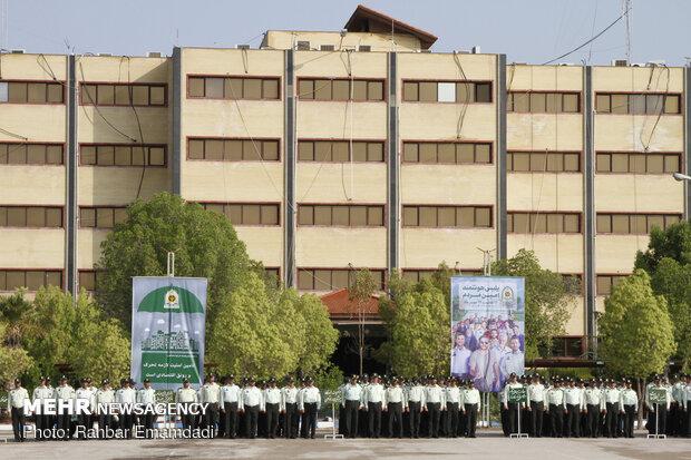 صبحگاه مشترک نیروهای مسلح هرمزگان به مناسبت هفته ناجا