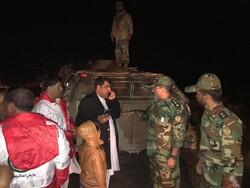 امدادرسانی تیپ زرهی ارتش به سیل زدگان خاش