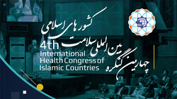 A poster for the 4th International Health Congress of Islamic Countries