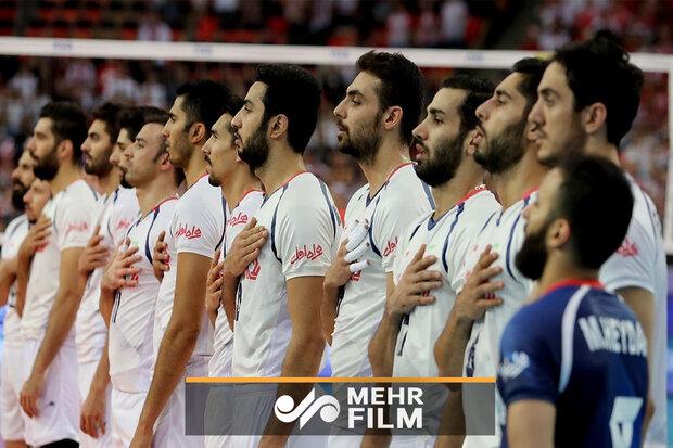 ایران اور برازیل کے درمیان والیبال مقابلہ