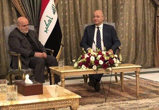 Iran backs development of peace, stability in Iraq