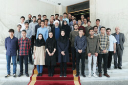 Rouhani - International Olympiad medal-winning students