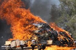 جزیرہ کیش میں 80 کلوگرام منشیات کو آگ لگادی گئی