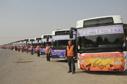 ۱۱۰۰ دستگاه اتوبوس به مناطق مرزی برای جابهجایی زائران اعزام شد