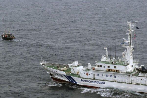 برخورد شناورهای ژاپن و کره شمالی/ قایق کرهای غرق شد