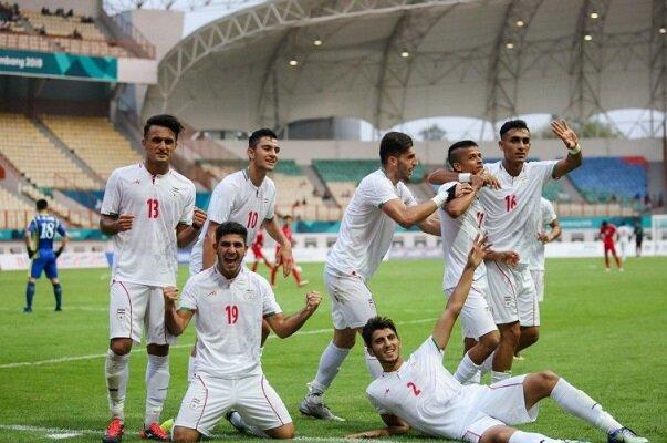 پیروزی تیم فوتبال امید ایران برابر استرالیا