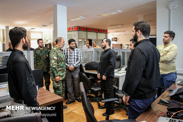 Police special unit cmdr. visits MNA HQ