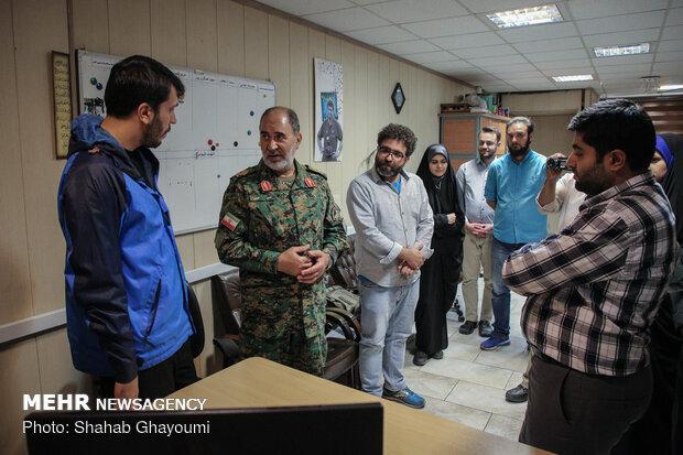 بازدید فرمانده یگان های ویژه ناجا از خبرگزاری مهر