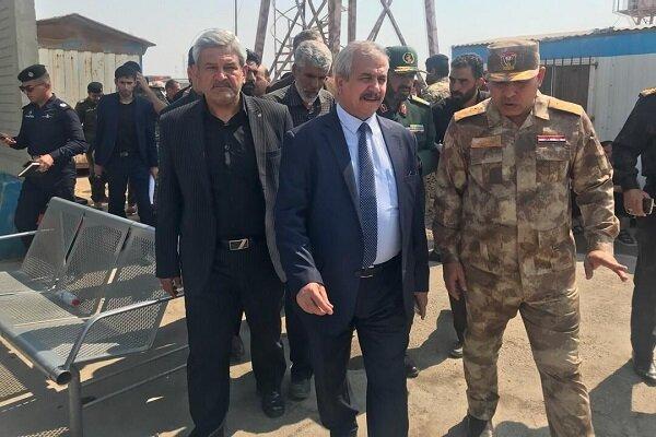 Iraqi interior min. visits Shalamcheh border crossing