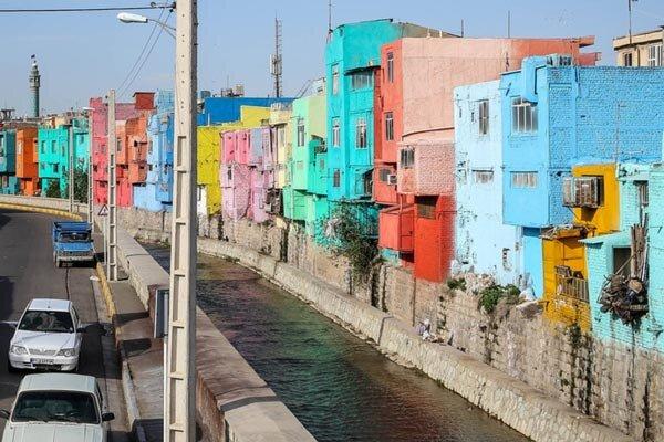 خانه های قزوین رنگین کمانی شدند