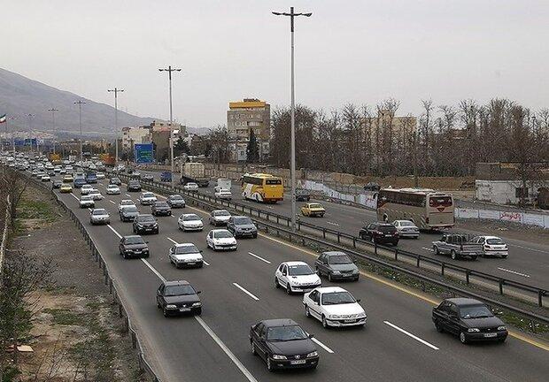 ترافیک روان و نیمه سنگین در مسیر برگشت زائران اربعین