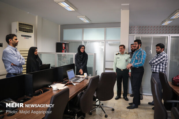 Cyber Police head takes a tour of MNA HQ