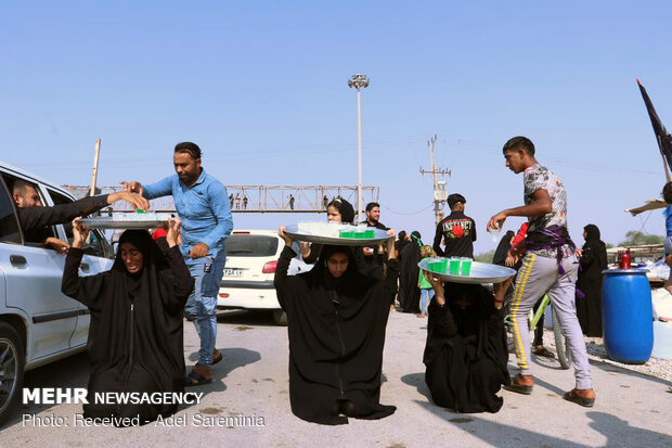 تردد زائران اربعین در مسیر اهواز به چذابه