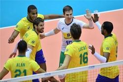 برزیل همچنان در صدر جدول/ تیم ملی والیبال ایران در رده هفتم