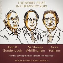 ۳ محقق برای توسعه باتریهای لیتیوم یونی برنده نوبل شیمی شدند