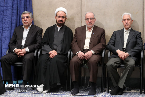 Meeting of Iranian Leader with elites, top scientific talents