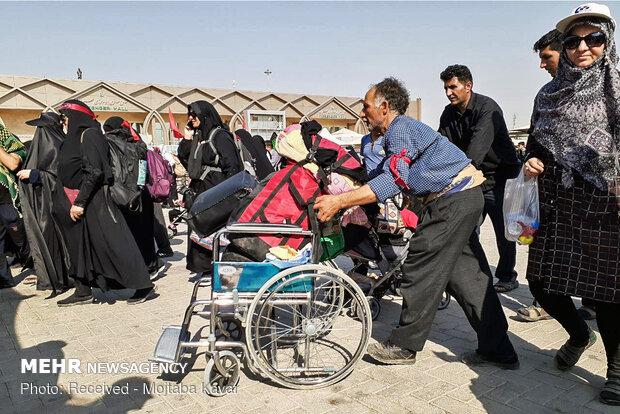 مہران سرحد سے حسینی زائرین کی روانگی کا سلسلہ جاری