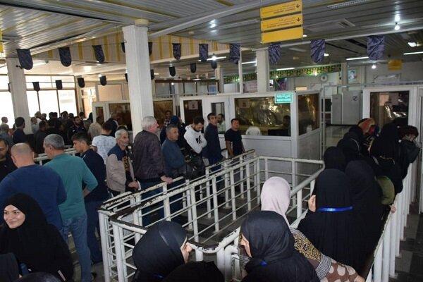 روزهای شلوغ گیتهای گذرنامه پایانه مرزی آستارا
