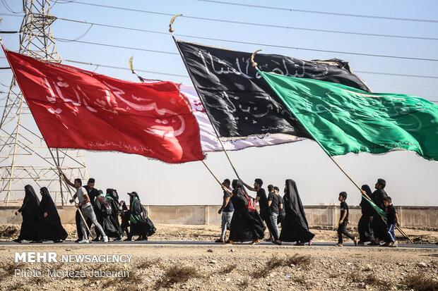 حال و هوای زائران اربعین حسینی در گذرگاه مرز شلمچه