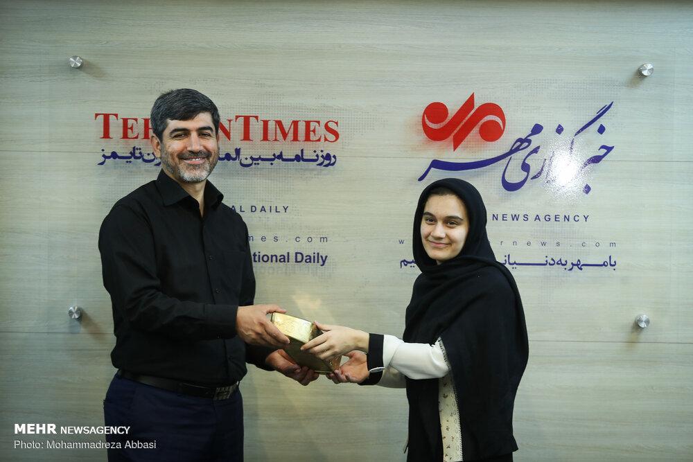 زيارة الطلاب الأوائل على مستوى الجمهورية الإسلامية الإيرانية لوكالة مهر