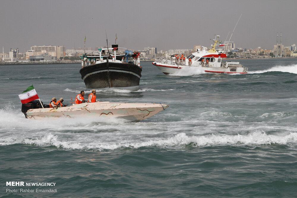 رزمایش دریایی ناجا در بندرعباس