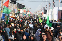 Arbaeen pilgrims entering Iraq via Shalamcheh border