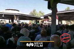 ایده زائران برای مقابله با گرما در مرز مهران