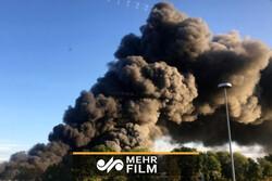 فیلمی از انفجار در نزدیکی فرودگاهی در اتریش