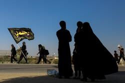 پیاده روی زائران اربعین در مناطق جنوبی عراق (الدیرــ ابوالخصیب)