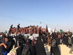 مشکل کمبود خودرو و آب در شلمچه عراق به طور کامل برطرف شد