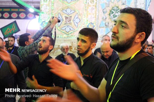 شلمچہ میں آذربائیجان کے حسینی زائرین کا حضور