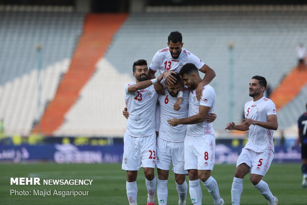 برد پرگل تیم ملی ایران مقابل کامبوج در نیمه نخست/ هتتریک سردار
