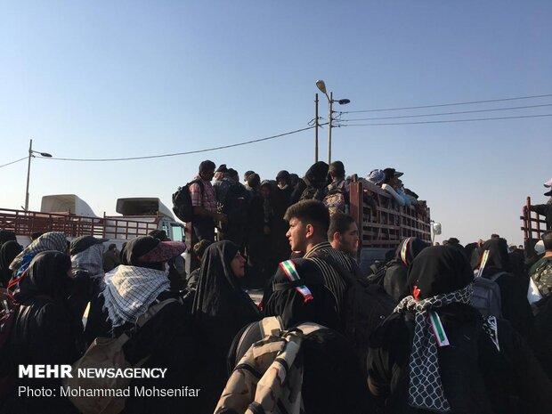 وضعیت تردد زائران در قسمت عراقی مرز شلمچه