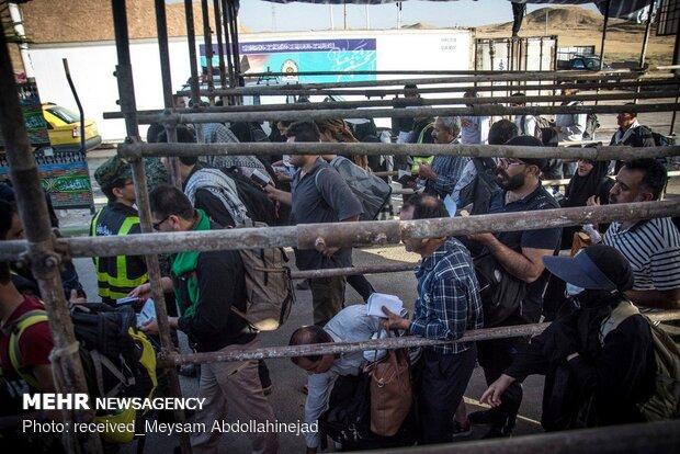 تردد زائران اربعین از مرز خسروی