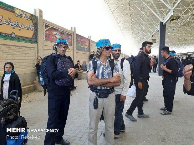 تردد زائران اربعین در مرز مهران
