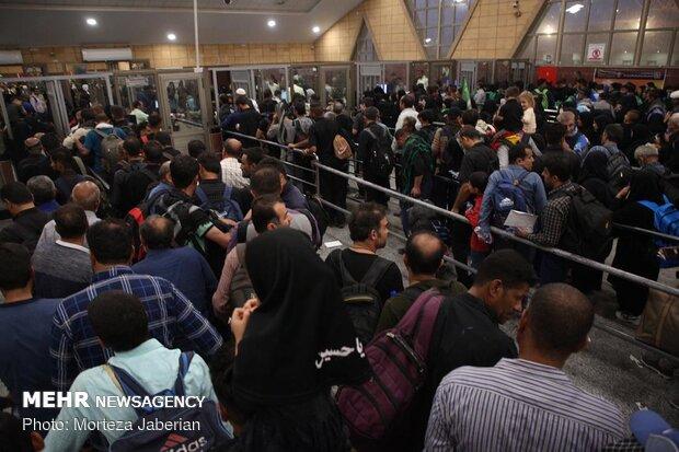 غربالگری تمام زائران اربعین مرز شلمچه در مسیر برگشت