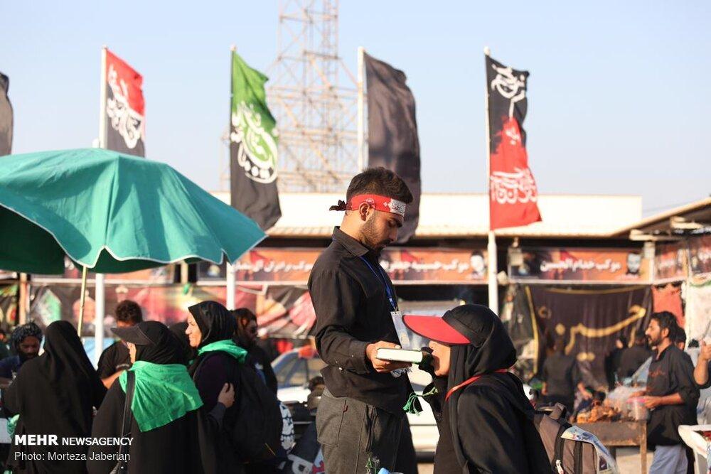 """حشود الزوار في حدود """"شلمجه"""" /صور"""