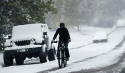 امریکہ کے مختلف شہروں میں برف باری